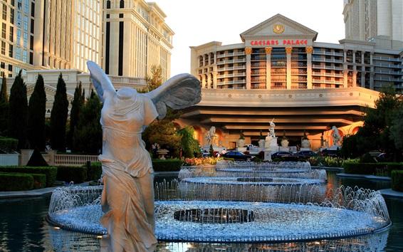 Wallpaper Las Vegas, USA, Caesars Palace, fountain