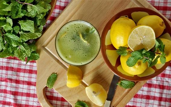 Wallpaper Lemons, cocktail, juice