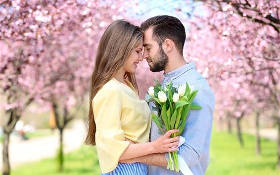 Wallpaper Lovers, spring, park, flowers