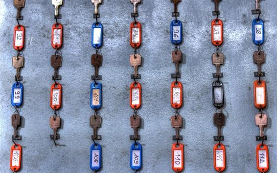 Обои Много ключей, стена