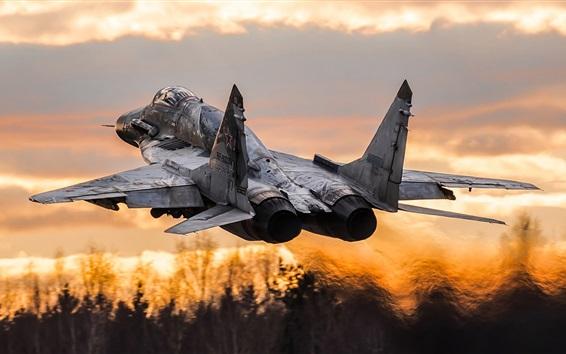 Papéis de Parede O caça multiuso MiG-29SM decola