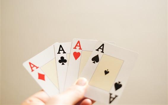 Fondos de pantalla Jugando a las cartas, A