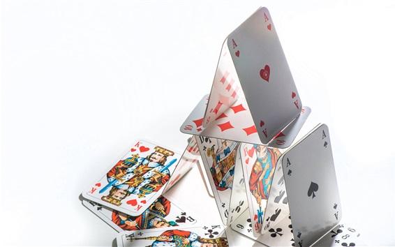 Fond d'écran Cartes de poker, struct, fond blanc