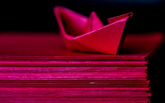 Wallpaper Red paper ship
