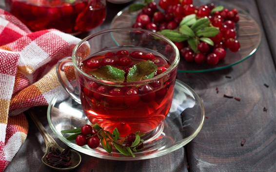 Wallpaper Red tea, berries