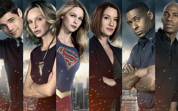 Wallpaper Supergirl, TV series, actors