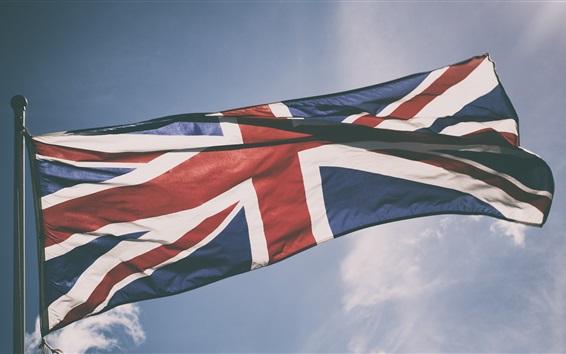 Papéis de Parede Bandeira do Reino Unido, céu