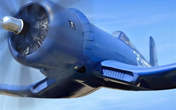 Papéis de Parede Vought F4U Corsair, avião azul