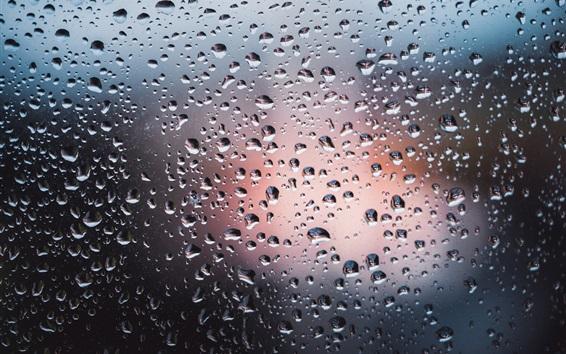 Wallpaper Water drops, glass, backlight