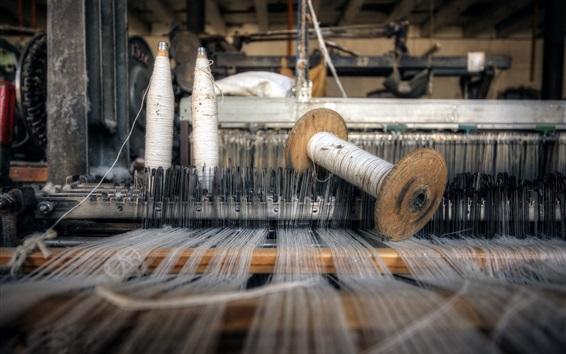Wallpaper Weaving machine, threads
