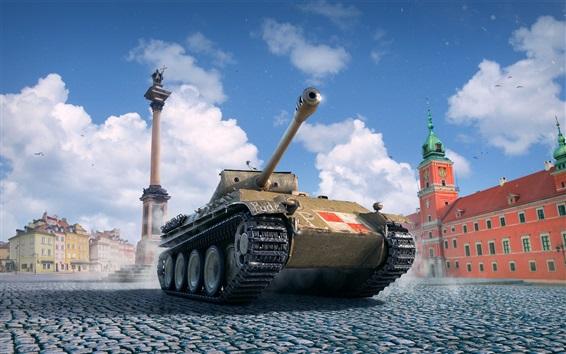 壁纸 坦克世界,广场,云