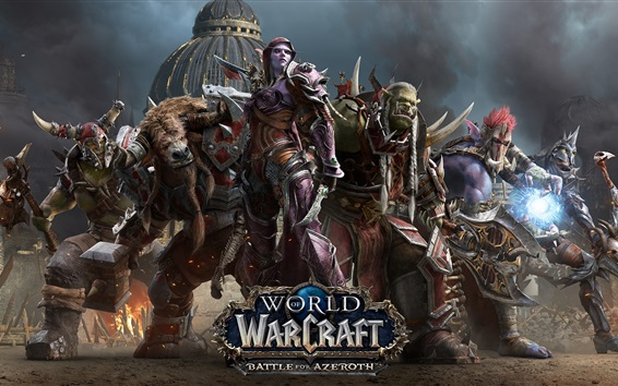 Wallpaper World of Warcraft: Battle for Azeroth, hot game