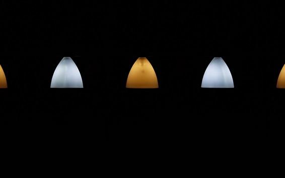 Fonds Décran Lampe Jaune Et Blanche Fond Noir 2560x1440