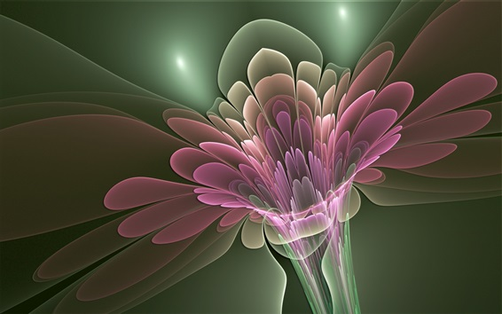 Wallpaper Abstract flower, pink petals