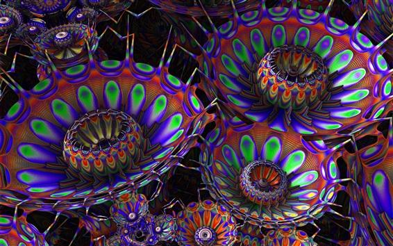 Fond d'écran Fleurs abstraites, couleurs de l'arc-en-ciel