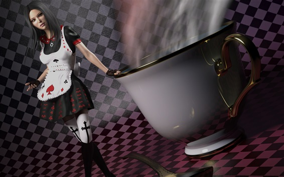 Wallpaper Alice: Madness Returns, big cup, spoon