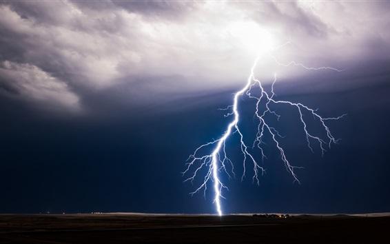 배경 화면 나쁜 날씨, 번개, 폭풍