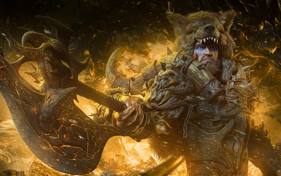 Wallpaper Barbarian, warrior, raw, male, art picture