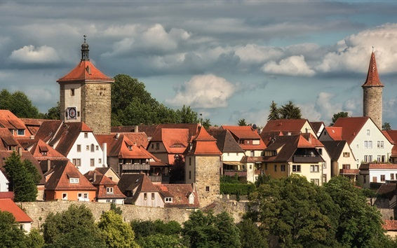 Обои Бавария, Германия, Средняя Франкония, дома