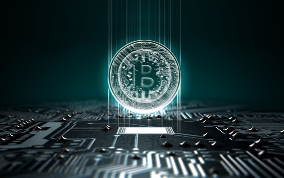 Wallpaper Bitcoin, currency, money, computer board