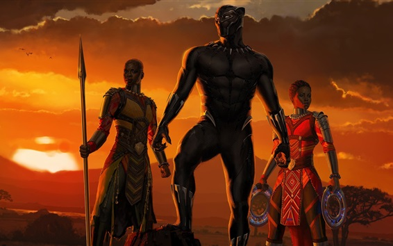Fondos de pantalla Black Panther, África, película de 2018