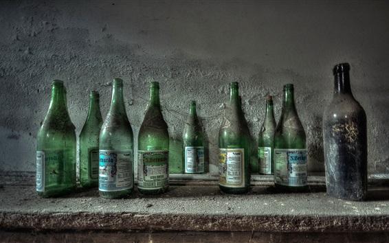Wallpaper Bottles, dust
