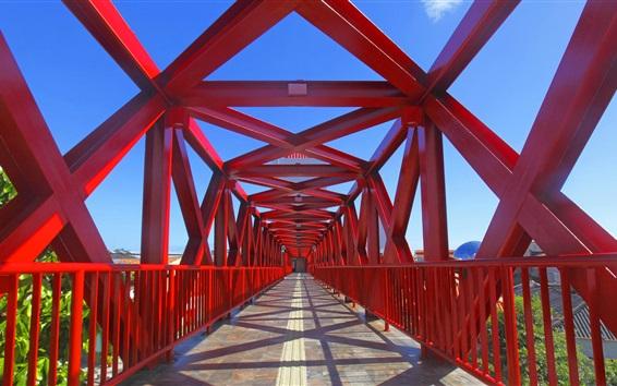 Fondos de pantalla Brasil, Fortaleza, puente, rojo