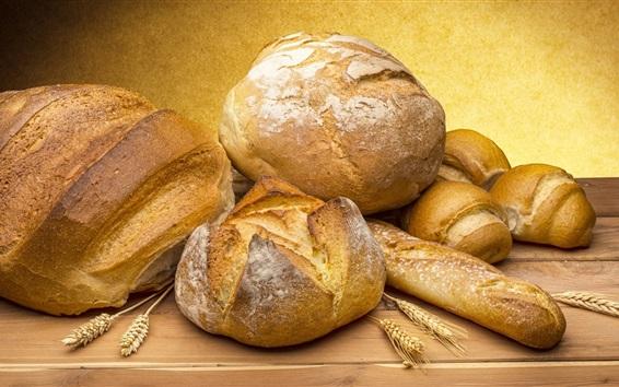 Papéis de Parede Pão, comida, espigas de trigo