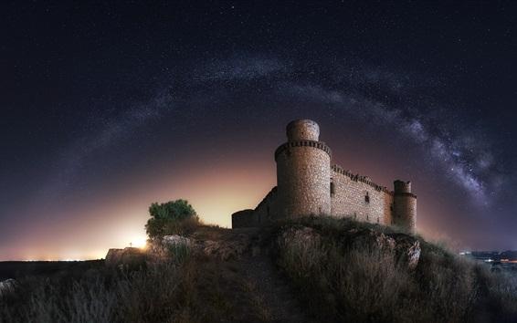 Papéis de Parede Castelo, noite, estrelada