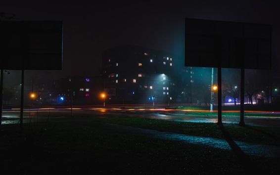 Wallpaper City, night, lights, illumination
