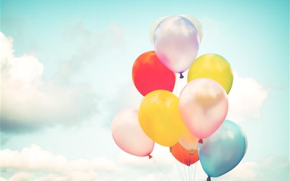 Wallpaper Colorful balloons, sky