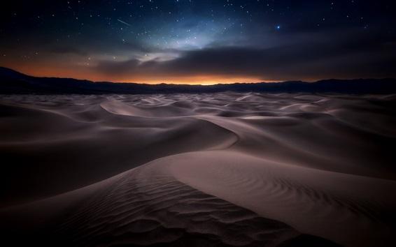Wallpaper Desert, night, starry