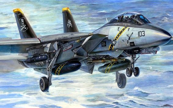 Wallpaper Double multi-role F-14A fighter