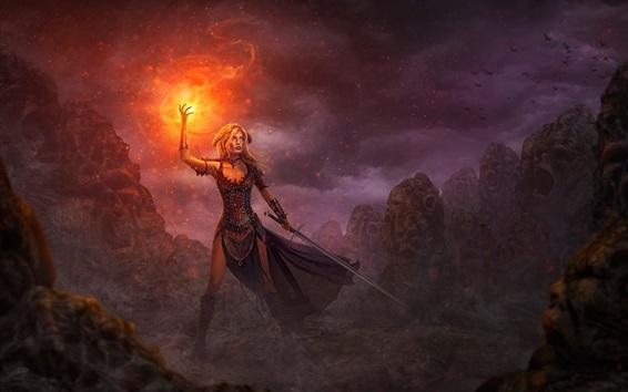 Fire Weapon Fantasy Art