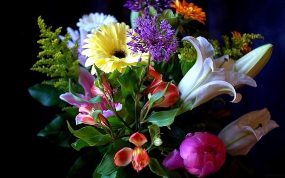 Papéis de Parede Flores, lírio, peônia, gerbera