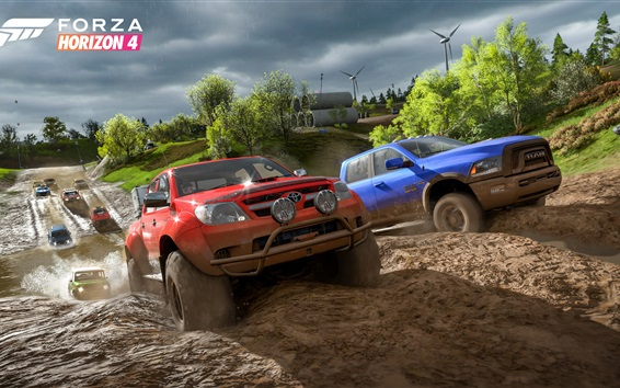 Wallpaper Forza Horizon 4, road, cars
