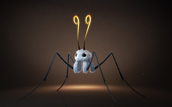 Wallpaper Furry creature, like a spider, 3D design