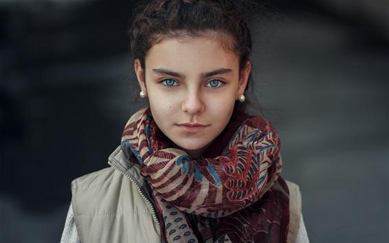 Wallpaper Girl, scarf, coat
