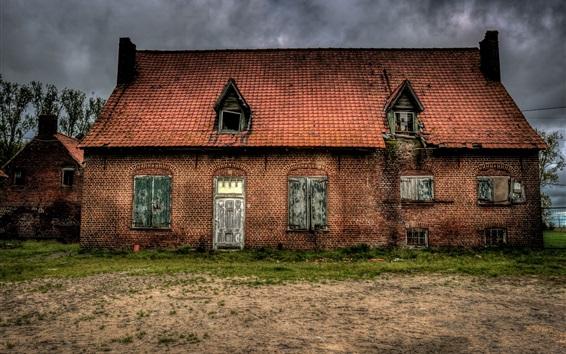 Wallpaper House, clouds, dusk