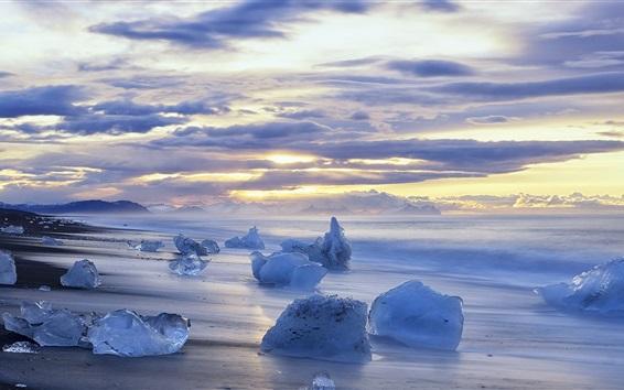 Обои Лед, море, снег, зима
