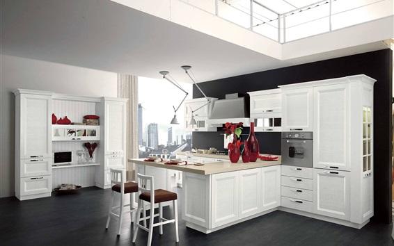 Fond d'écran Cuisine, intérieur, style blanc