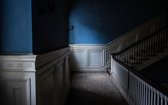Wallpaper Ladder, shadow, light