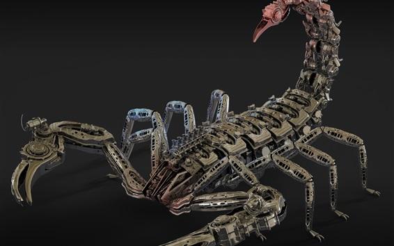 Wallpaper Metal scorpion, robot