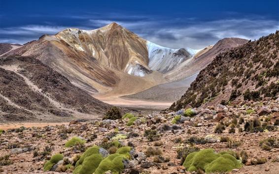 Wallpaper Mountains, stones, nature landscape