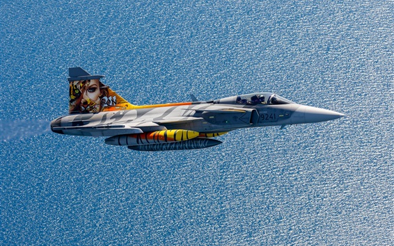 Wallpaper Multi-role fighter, flight, sea