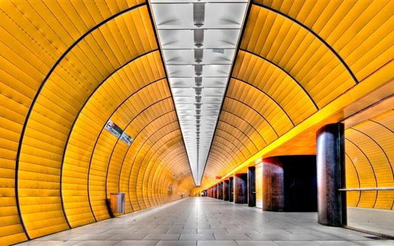 Wallpaper Munich, Germany, metro, tunnel