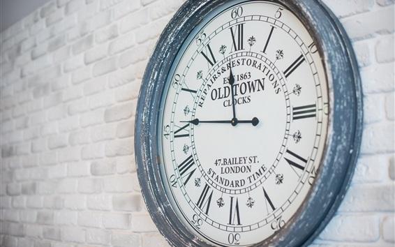 Wallpaper Old Town Clock, wall
