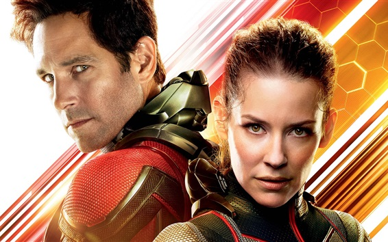 Wallpaper Paul Rudd, Evangeline Lilly, Ant-Man and the Wasp