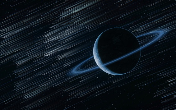 Wallpaper Planet, ring, stars, space