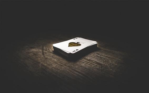 Fond d'écran Cartes à jouer, terrasse, table